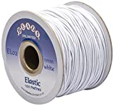 Beads Unlimited 1 mm Coloured Elastic, Pack of 100 m, White