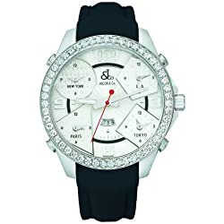 Jacob & Co. Five Time Zone 3.25 CT Diamond Collection 47MM Authentic Watch JC-3 With Box & Papers