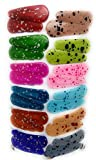 #5: Tic-Tac Hair Clips for Kids, 12 Pairs (24 Pcs), Mix Color
