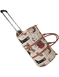 Bolsa de viaje tapiz Signare con ruedas/Equipaje de viaje trolley de asa retráctil Caballo