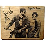 5X4-1 -NMV Wooden Plaque,Engraved Wooden Photo Plaque,Laser Engraved Photo On Wood