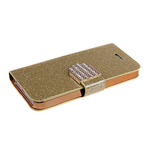iPhone 6s plus Handyhülle,iPhone 6 plus Case,iPhone 6S plus Hülle - Felfy Sleek Simple Gold Luxury Luxus Bling Sparkle Flip PU Leder Wallet Case Tasche Schutz hülle Etui für Apple iPhone 6 pplus 5.5 Z Gold