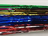 Colorful 3.2ft x 6.6ft Metallic Tinsel Foil Fringe Curtains for Theme Party Photo Backdrop Wedding Decor
