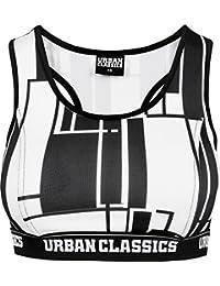 Urban Classics Ladies Graphic Bra, Soutien-Gorge de Sport Femme