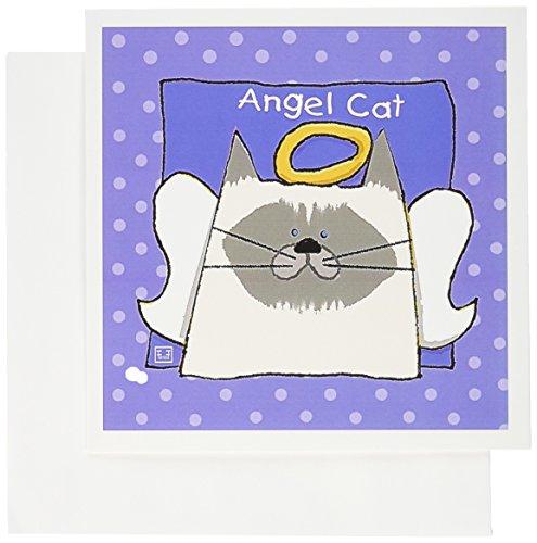 3dRose Angel Himalayan Cat Cartoon Pet Loss Memorial - Greeting Cards, 6 x 6 inches, set of 6 (gc_36662_1) -