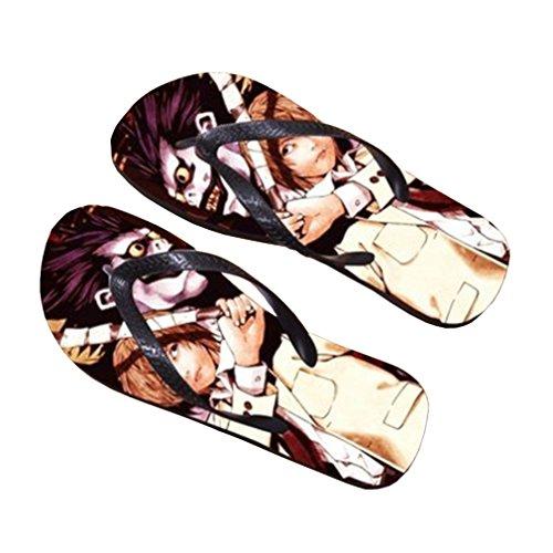 Bromeo Death Note Anime Unisex Flip Flops Zehentrenner Flip Pantoffeln 708