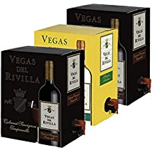 Bag in Box Vino 2 Cajas de 5 litros de Vino tinto y 1 caja de