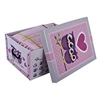 Excellent Houseware Owls Design Cardboard Room Tidy Toy Storage Gift Box Chest Trunk