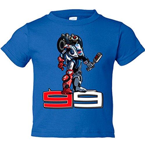 Camiseta niño Robot 99 motogp - Azul Royal, 18-24 meses