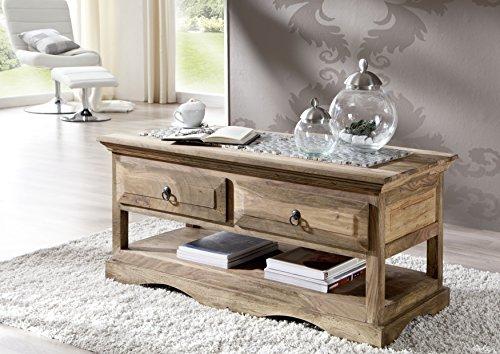 MEUBLE BOIS MASSIF palissandre huilé gris Table basse 110X50 sheesham colonial BOIS MASSIF meuble Robin #44