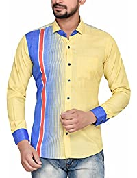 PP Shirts Men yellow Colored Printed Shirt
