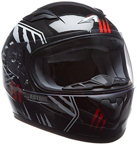Astone Helmets gt2kg-predator-bwl casco Moto Integral GT Kid, color negro/blanco, talla L