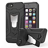 HOOMIL Coque iPhone SE, Coque iPhone 5S, Silicone Housse Antichoc Armor Protection Case Etui pour Apple iPhone 5/5S/SE - H3229, Noir