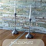 Folien-Discount24 (EUR 4,45 / Quadratmeter) TISCHFOLIE + KLAR 200 cm x 100 cm Möbelfolie MATT SATIN SCHUTZ