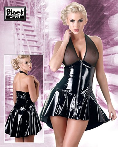 Black Level Lack Kleid mit Netz