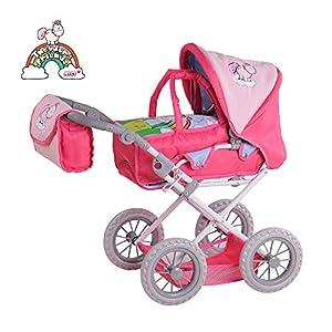 Knorrtoys 80201 Silla de Paseo de Juguete Accesorio para muñecas - Accesorios para muñecas (Silla de Paseo de Juguete, Rosa, 1 Asiento(s), Niño, Chica, 370 mm)