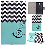 Voguecase® für Samsung Tablet Elegant in Tablet Leder Case Cover Schutz mit Stylus Stift
