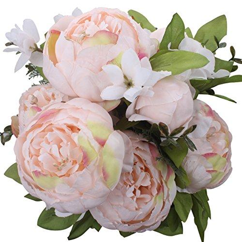 Bouquet de fleurs artificielles vintage - Pivoines artificielles - Décoration de maison, mariage - Xiuer