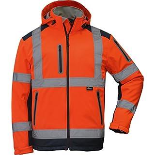 Winter Warnschutzsoftshelljacke in orange in Größe L