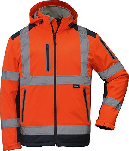 Preisvergleich Produktbild Winter Warnschutzsoftshelljacke in orange in Größe XL