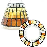 Official Yankee Candle Warm Summer Night mosaico di vetro piccolo paralume decorazione set–Candela non inclusa