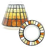 Yankee Candle Set decorativo ufficiale Calde Notti Estive dotato di piccolo paralume decorativo in vetro a mosaico, candela non inclusa