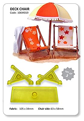 Deck Chair - Set of 3 - JEM Sugarcraft Cutters great for cake makers - inexpensive UK chair shop.