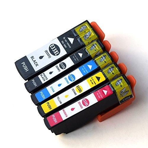 4 X Neue Toner (caidi 5 x kompatibel für Epson 33 x l Tintenpatronen mit Neue Aktualisierte Chips Hohe Kapazität Kompatibel mit Epson Expression Premium xp-530 xp-630 xp-635 xp-830 xp-640 xp-900 xp-540 xp-645 pirnte)