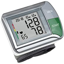 Medisana HGN Tensiómetro de muñeca, con función semáforo, color blanco y gris