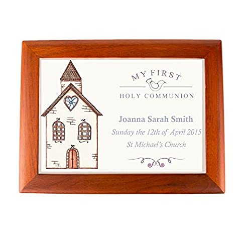 Personalised 1st Holy Communion Musical Jewellery Box: Church Daughter Niece