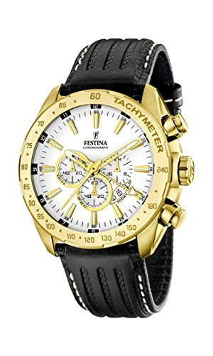 Festina Men's Quartz Watch with Chronograph Quartz Leather F16879/1
