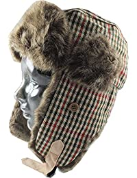 Country Style Tweed Trapper / Hunter Hat -