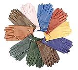 EEM edle Lederhandschuhe ALICE für Damen aus extra weichem Leder, verschiedene Farben, old rose L
