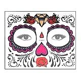FNKDOR Unisex Halloween Carnevale Facciale Tatuaggio Cosmetologia Adesivi Temporaneo Face Art Acqua Trasferimento Adesivi Q 16*12.7 cm