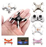 Khyanna® Super Mini Micro Nano Quadcopter RC Drone with LED Lights 2.4G 4 Channel 3D Gyro 6 Axis with 3D Stunt Spin Flips (Only 4cm x 4cm x 2cm)