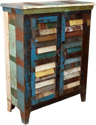 Guru-Shop Pecho Antiguo con Puerta de Rejilla (JH0-263), 91x71x32 cm,