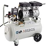 Arebos Kompressor 24 Liter / 800 W/Ölfrei / 54,5 dB/GS geprüft von TÜV...
