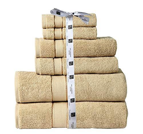 - Hotel-stil Handtuch (COZY HOME COLLECTION Luxuriöses Badezimmerhandtuch-Set, 600 g/m², aus 100% hochwertiger gekämmter Baumwolle, 2 Waschlappen in Hotel- und Spa-Qualität, 2 Handtücher und 2 Badetücher, Taupe)