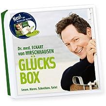 Hirschhausens neue GLÜCKSBOX: Lesen. Hören. Schreiben. Sein! Geschenkbox mit Doppel-CD (Hörbuch), Glückstagebuch und Glücks-(Kräuter)-Tee