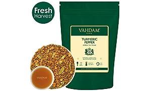 Turmeric Spice Chai Tea (100 Cups) India's Ancient Medicine Blend of Turmeric & Garden Fresh Spices, ABUNDANT IN ANTI-OXIDANTS & PHYTO-NUTRIENTS, Turmeric Tea, Packed in India, 200g