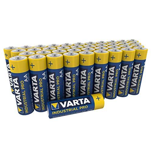 VARTA Industrial Batterie AA Mignon Alkaline Batterien LR6, umweltschonende Verpackung (40er Pack)