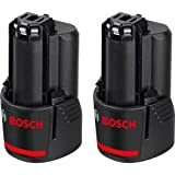 Bosch Professional 12V Akku Starter-Set (2 x GBA 2, 5 Ah, 12 Volt, kompatibel mit 10, 8V) 0615990GM7