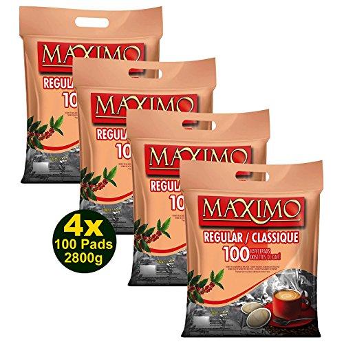 MAXIMO Regular Kaffeepads 4x 100 Pads 700g (2800g) - aromasicher verpackt