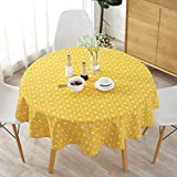Best Simple Cotton Rounds - Asallway Cotton Polyester Round Table Cloth Cover Modern Review