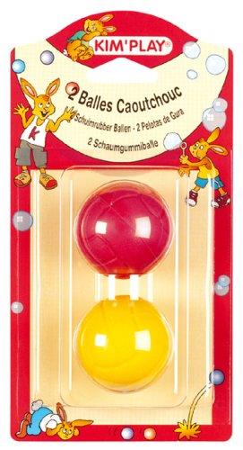 Cofalu Kim'Play Schaumgummibälle, 2Bälle Gummi–Durchmesser 45mm (Durchmesser-gummi-ball)