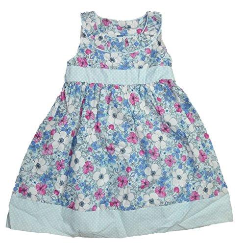 Maggie & Zoe Sommer Cinderella Mädchen Kleid Blau Hellblau Weiß Pink mit Blumen Punkte Muster 92 (Kleider Blumen Von Zoe)
