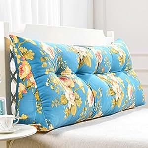 uus bleu triangle sofa coussin coussin de t te de lit design ergonomique dossier et la taille. Black Bedroom Furniture Sets. Home Design Ideas