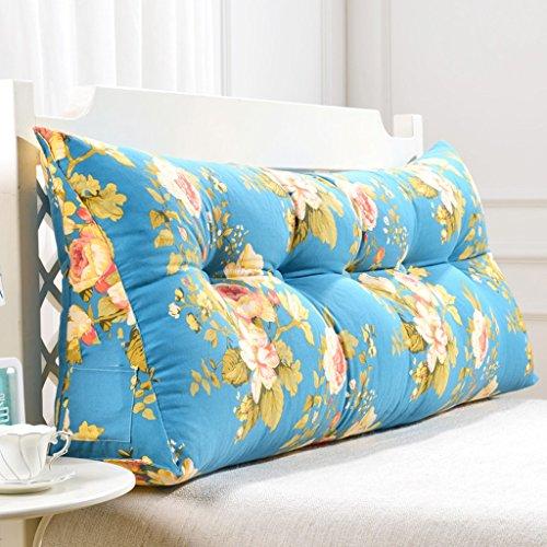 uus Bleu Triangle Sofa Coussin Coussin de tête de lit Design ergonomique Dossier et la taille Couverture lavable en environnement avec 3D High-élastique de coton perlage de remplissage ( taille : 60cm ( No Button) )