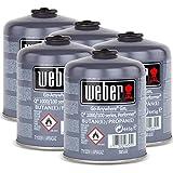 5x Weber Gas Kartusche 26100 für Q 100 Serie und Performer Touch-N-Go