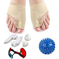 Anself 8 Stück Hallux Valgus Orthese Set Ring-Typ Split Peep-Toe Care Kit Spannband preisvergleich bei billige-tabletten.eu